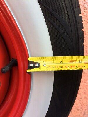 """Atlas Whitewall Neumáticos Topper 4x Puerto de pared blanca de 15/"""" ruedas-o-Pared Clásico De Goma"""