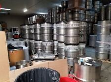 Lot Of 30 X 55 Gallon Stainless Steel Barrel Drums Open Top Lids 1 Bung Drains