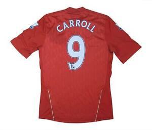 Liverpool 2010-12 ORIGINALE HOME SHIRT Carroll #9 (eccellente) S Soccer Jersey