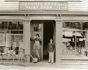 Details About Vintage Paint Store Antique Bicycle Old Time Paint Store Wallpaper Display 1890