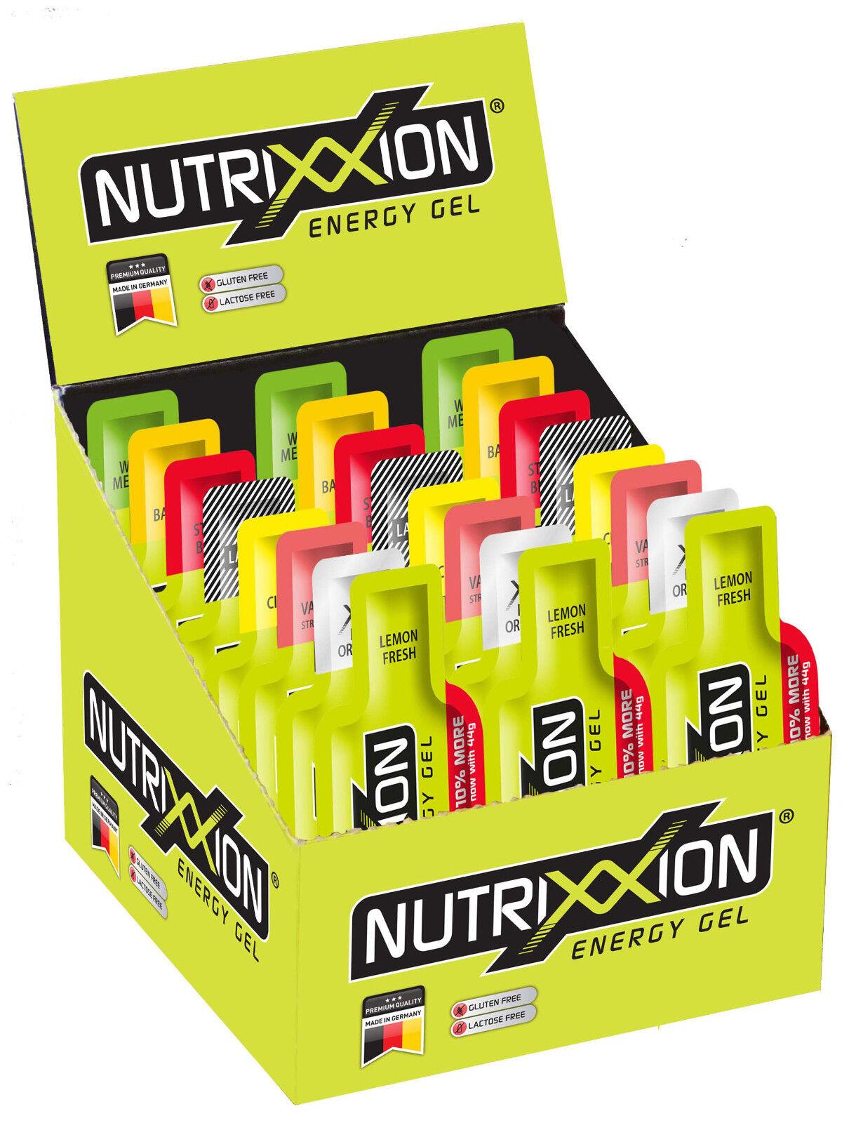 Nutrixxion Energy Gel Karton 24 Beutel 44g 9 Sorten   auch mischbar