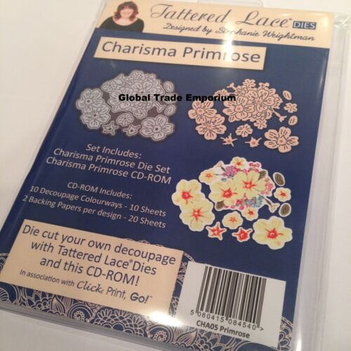 Print Tattered Lace CHARISMA FLOWER COLLECTION Dies PLUS CD ROM  /'Click Go/'