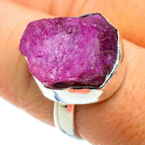 Ruby Fuchsite 925 Sterling Silver Ring Size 8.5 Ana Co Jewelry R41237F