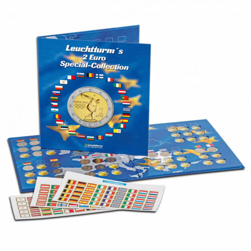 2 EURO Coin Collection Album PRESSO Currency Coin Collection Leuchtturm 302574