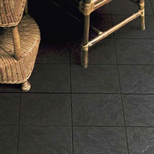 Rockface Black Charcoal Ceramic Slate Effect Floor Tile 338x338x7mm 1 Sqm Ebay