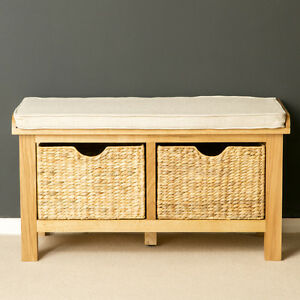 Etonnant Image Is Loading London Oak Storage Bench For Porch Solid Wood
