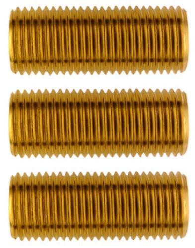 3x Rohr Gewinde Gewinderohr Nippel Lampe Leuchte Zubehör M10x1 rein Messing 25mm