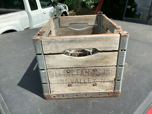 Vintage-WELSH-FARMS-Wooden-Milk-Crate-LONG-VALLEY-New-Jersey