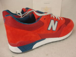 Details about New Balance 496, CM496CPR, Red Grey Blue, 574, Suede Mesh, Size 13