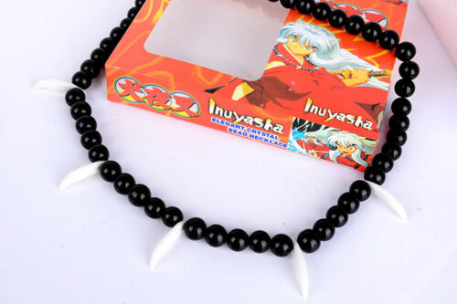 Anime Inuyasha Bead Necklace Platycodon Beads Chain Bracelet Men Women Cosplay