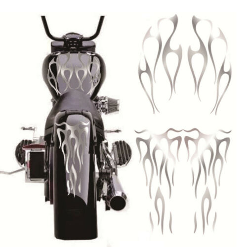 Matte Silver Motorcycle Fuel Tank /& Fender Waterproof Vinyl Decals Decor Sticker