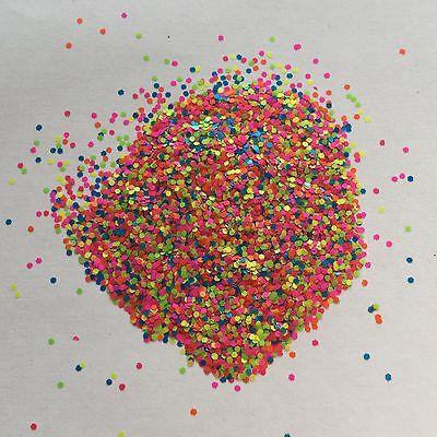 Mezcla de Neón Festival cara Decoración De Uñas Brillo Lentejuelas punto Hexagonal 1 mm 040 10//50//100 G