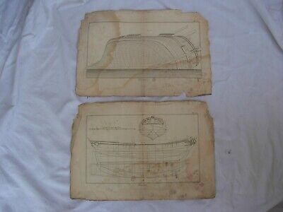 Other Maritime Antiques A Lot Of 12 Antique French Boat Plan Engravings,xviii Century
