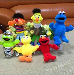 New Hot sale Selling! Sesame Street Elmo Big Bird Soft Plush Toys 6Pcs/Set