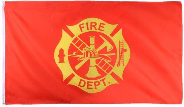 Fire Dept Red Flag 3x5 Support FD Firefighter Department Company Engine Fireman