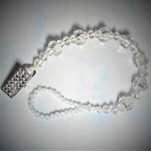 White Black Zebra Animal Stripe Romany Crystal Bling Baby gift dummy clip chain