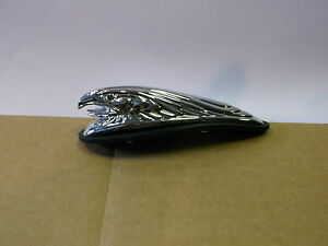 HIGHWAY HAWK FENDER EAGLE HEAD ORNAMENT CHROME 12CM LONG BC2327 - T