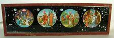 Magic Lantern Glass Slide Arabian King Queen Cartoon Antique