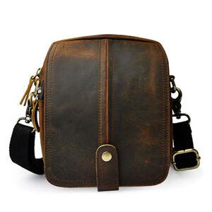 f038f93ffaf8 Men s Oil Wax Genuine Leather Shoulder Bag Belt Fanny Waist Pack ...