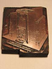 ANCIEN TAMPON MATRICE IMPRIMERIE CATALOGUE CHAUFFAGE IDEAL OUTIL IMPRIMEUR 1920