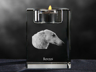 2019 Neuer Stil Barsoi,russischer Windhund, Kristall-kerzenleuchter Mit Hund, Crystal Animals De