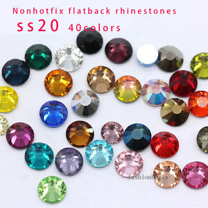 144/1440p ss20 color Crystal Flatback Rhinestone Nail Art Decoration beads craft