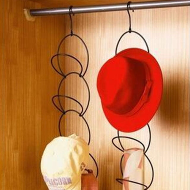 Creative Scarf Baseball Cap Hat Holder Rack Organizer Storage Door Closet Hanger