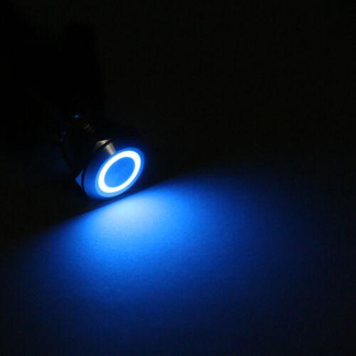 Einbauschalter 12mm 12V LED Edelstahl Taster Druckschalter Für Autos//Boot//DIY Z