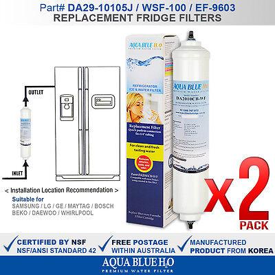 2 x Samsung external fridge filter for model SRS615DP part DA2010CB-WF