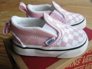 Vans Shoes Slip On V Checkerboard Lilac Snow Us Toddler 2 5 Uk 2 Eur 17 5 Ebay