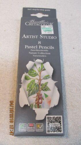NATURE COLLECTION BREVILLIER/'S Cretacolor Pastel Pencils Portrait Set Of 8