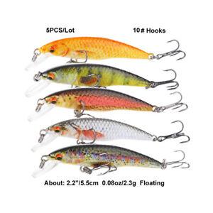 minnow Fishing Lures Crank Bait Hooks Bass Crankbaits Tackle Swimbait Sinking