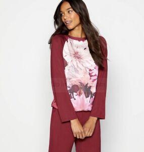 Ted-Baker-Pink-Floral-Print-039-Clove-039-Pyjama-Top-Size-10