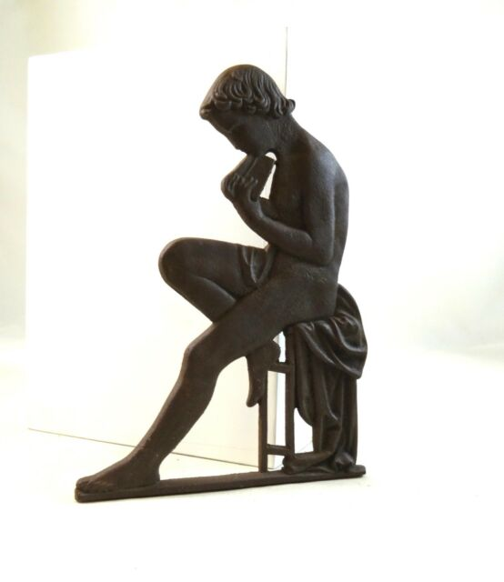 ORIGINAL ANTIQUE FRENCH NUDE WOMAN IRON CAST WALL PLAQUE ABOUT 1900