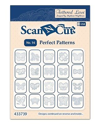 Tattered Lace Brother Scan N Cut 16 Perfect Patterns USB Sentiment Bargain !!!!