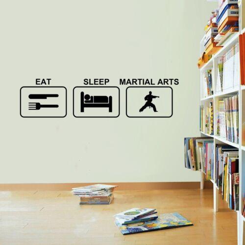 Eat Sleep Martial Arts Wall Sticker Vinyl Decal Decors Art Martial Arts Sticker
