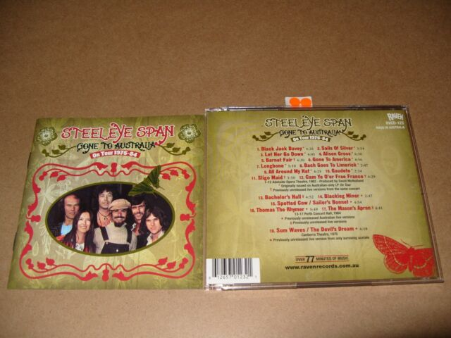Steeleye Span Gone to Australia On Tour 1975-1984/Live Recording cd 2001 Ex/NrM