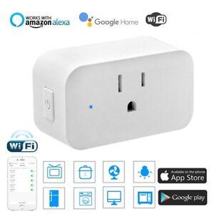 Details about WiFi Smart Plug Works with Amazon Alexa - 3 prong Single  Socket White USA