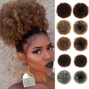 Afro-Puff-Drawstring-Ponytail-Kinky-Curly-Bun-Extension-Donut-Chignon-Hairpieces