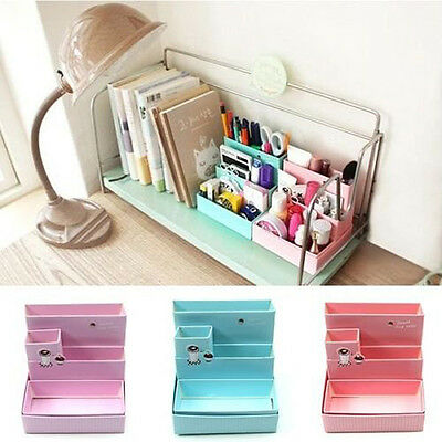 Paper Board Storage Box Desk Decor Stationery Makeup Cosmetic Organizer Case DIY