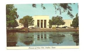 DALLAS-TX-Fine-Arts-Museum-Lily-Pond-Vtg-1970-Postcard