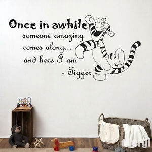 Image Is Loading Tigger 034 Once In Awhile Kids Bedroom