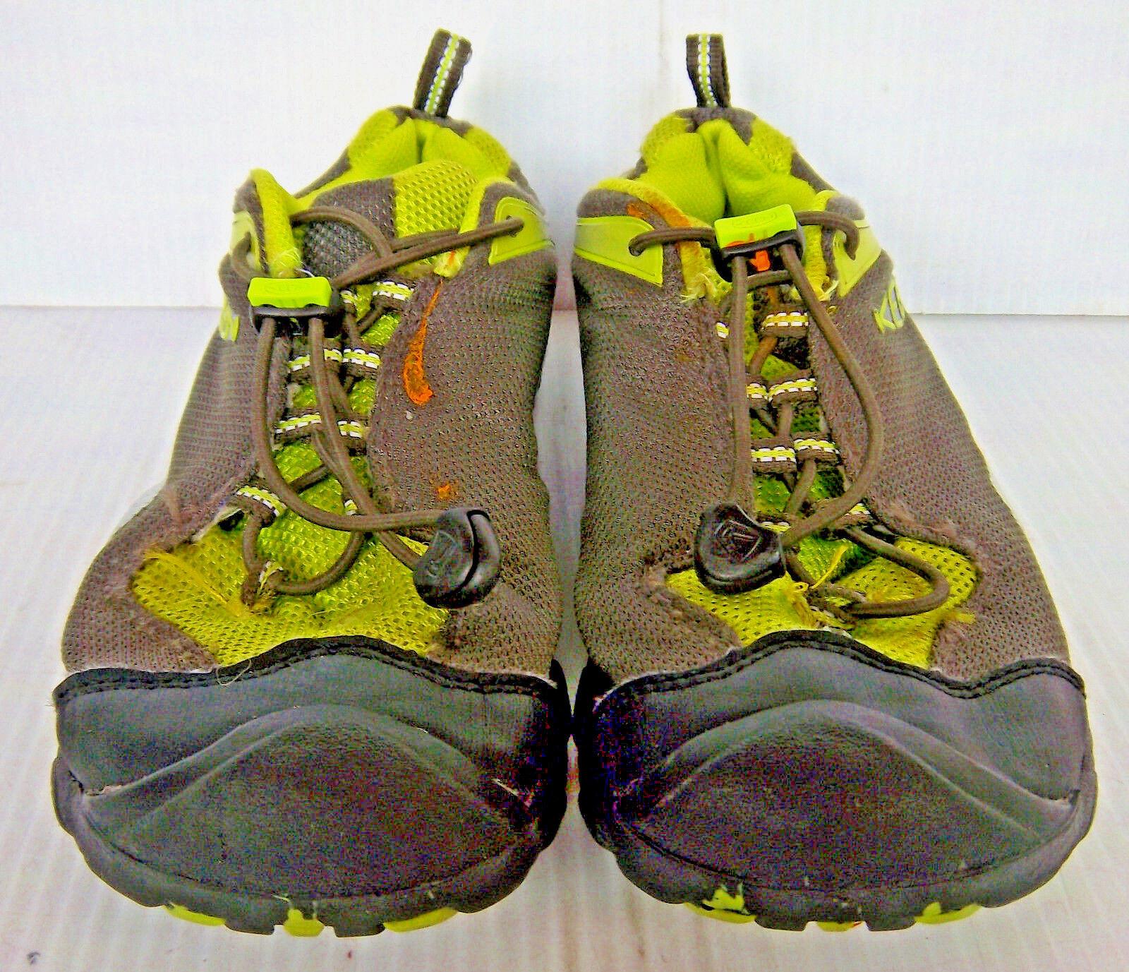 d261ad862ca KEEN - Men s Men s Men s Charcoal Gray   Green Mesh Dry Hiking Trail  Sneakers -- Size 6 6f6c45