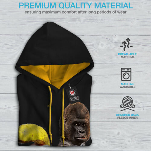 Beast Gorilla Men New Animal Black Gun Hoodie Contrast Hood gold f5qwx5BrTA