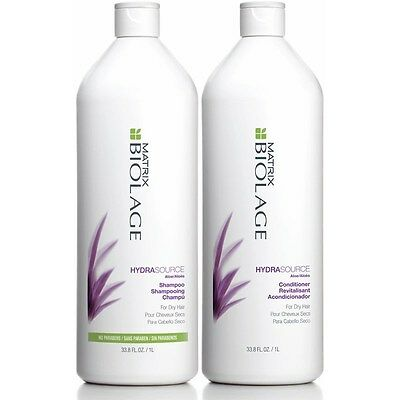 Matrix Biolage Hydrasource 1Litre Shampoo +Detangling Solution 1000ml +2 PUMPS