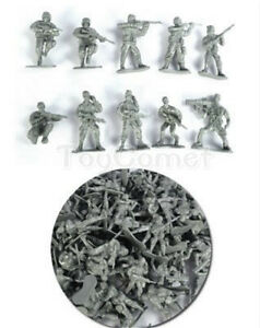 50-pcs-Military-Plastic-Toy-Soldiers-Army-Men-Silver-1-36-Figures-10-Poses