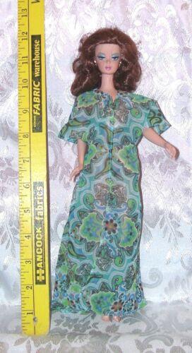 GENUINE MATTEL BARBIE DOLL BEACH BATHING SUIT COVER UP LONG MOD PRINT NEW