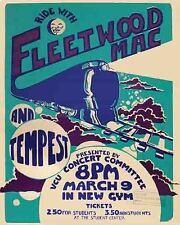 Vintage looking  Fleetwood Mac    1970's Concert Tour Poster
