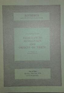 1976 Catalogue Di Vendita SOTHEBY'S Sagome Miniatura E Objects Of Vertu