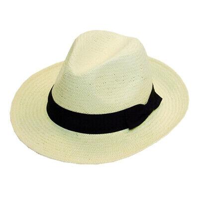 Straw Cowboy Hat Hawkins Shell Band Cap Mens Womens Band Ladies Fedora